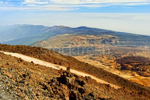 Tenerife vulcânico paisagem ver canárias Espanha Foto stock © rognar