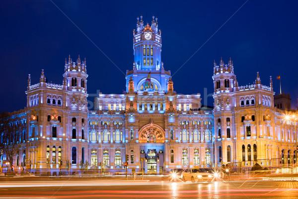 Madri noite cidade Espanha rua Foto stock © rognar