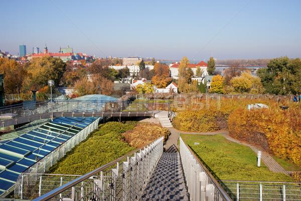 ワルシャワ 大学 ライブラリ 屋根 庭園 公共 ストックフォト © rognar