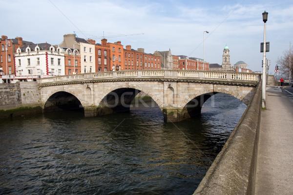 Híd Dublin folyó város Írország víz Stock fotó © rognar