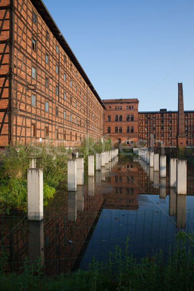 Old Industrial Building on Mill Island in Bydgoszcz Stock photo © rognar