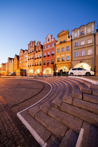 Twilight in the Old Town of Jelenia Gora in Poland Stock photo © rognar