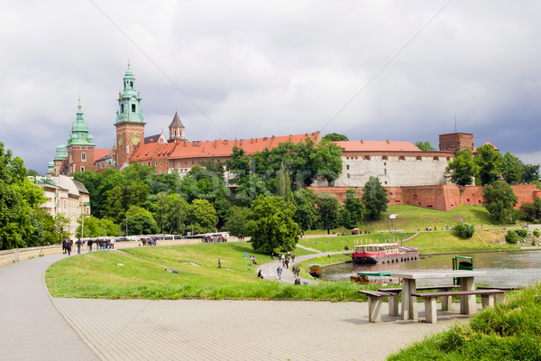 Wawel Royal Castle in Poland Stock photo © rognar