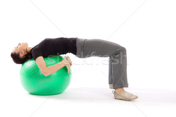 Stock photo: Woman Practing Pilates