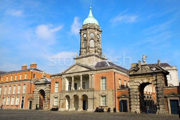 ダブリン 城 アイルランド 空 市 青 ストックフォト © rognar