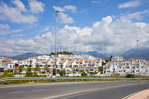 Falu Andalúzia fehér utca üdülőhely város Stock fotó © rognar