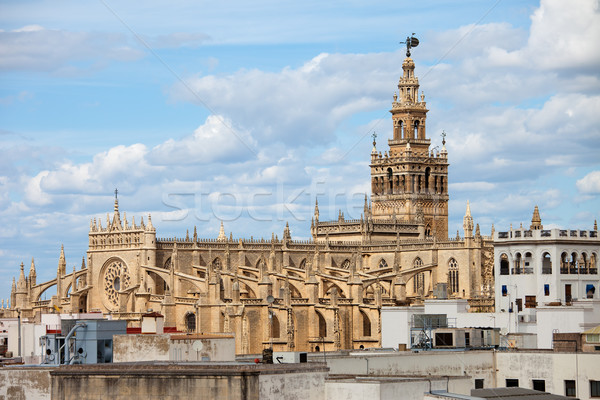 Cathedral of Seville in Spain Stock photo © rognar