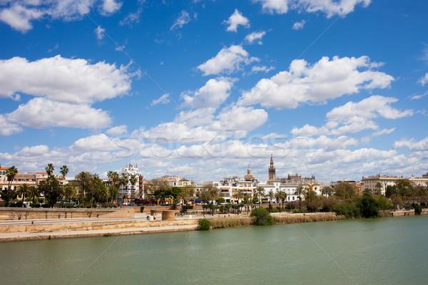Város folyó Spanyolország városkép Andalúzia régió Stock fotó © rognar