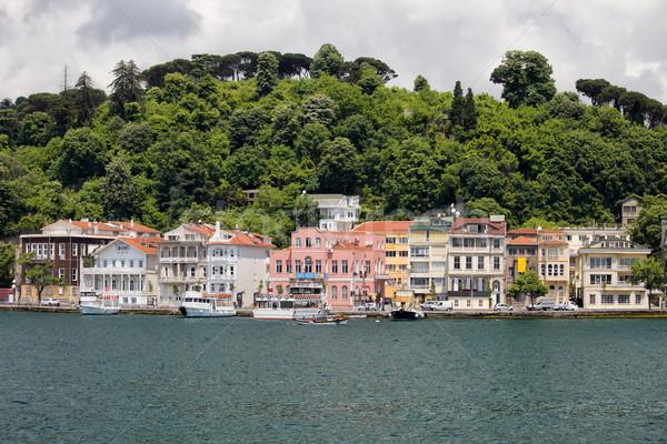 Houses Along The Bosphorus Strait Stock photo © rognar