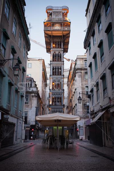 Santa Justa Elevator in Lisbon Stock photo © rognar