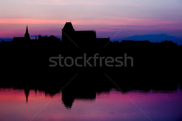 Stock photo: Torun Old City Skyline at Twilight