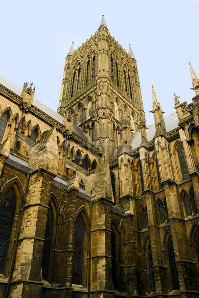 Lincoln Cathedral Architecture Stock photo © rognar