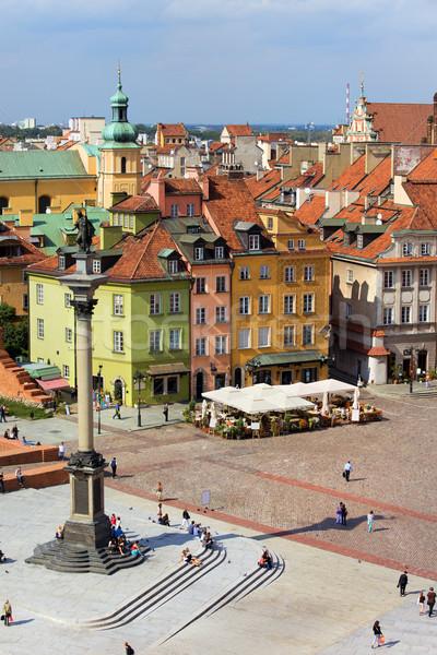 старый город Варшава царя колонки замок квадратный Сток-фото © rognar
