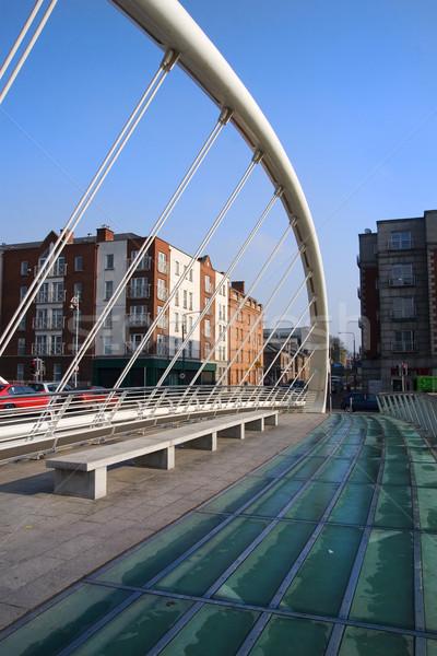 橋 ダブリン アイルランド 建物 青 旅行 ストックフォト © rognar
