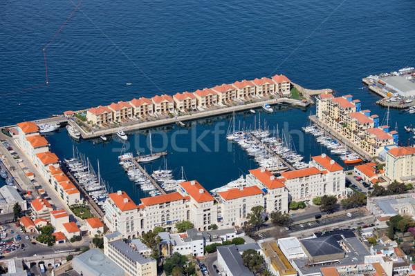 Marina gibraltar miasta nowego apartamentu budynków Zdjęcia stock © rognar