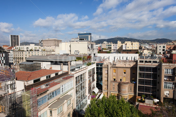 Kerület Barcelona lakóövezeti építészet város épület Stock fotó © rognar