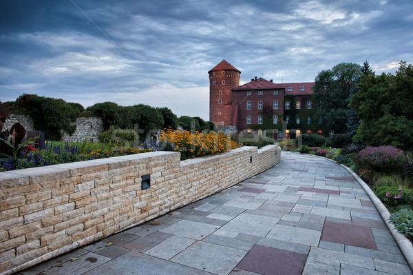 Jardín callejón real castillo cracovia Polonia Foto stock © rognar
