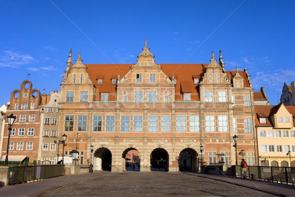 Green Gate in Gdansk Stock photo © rognar