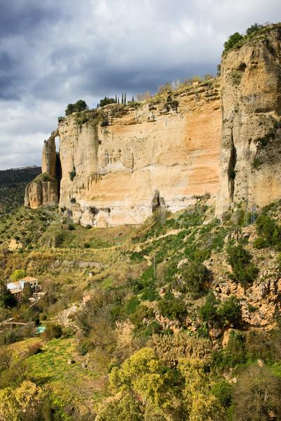 Ronda Rock in Andalusia Stock photo © rognar