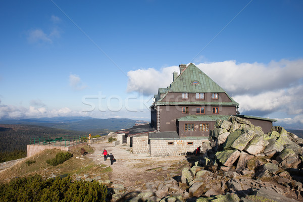 Barınak dağ Polonya dağlar park Stok fotoğraf © rognar