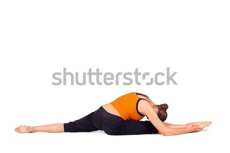 Fit Woman Practicing Yoga Stock photo © rognar