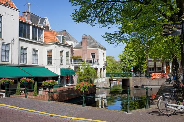 オランダ 絵のように美しい 風景 市 オランダ ツリー ストックフォト © rognar