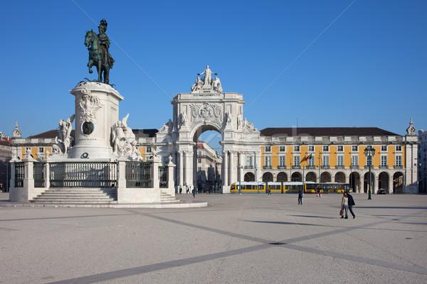 Praca do Comercio in Lisbon Stock photo © rognar