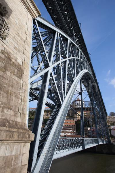 Dom Luis I Bridge in Oporto Stock photo © rognar