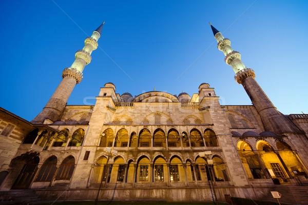Blue Mosque at Evening Stock photo © rognar