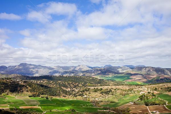 Andalúzia tájkép Spanyolország festői vidék déli Stock fotó © rognar