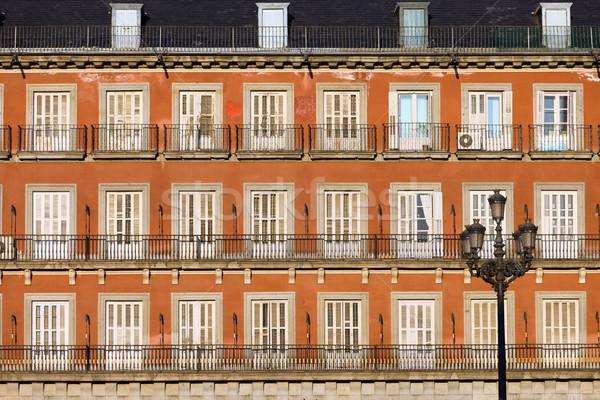 Storico facciata Madrid casa architettura Spagna Foto d'archivio © rognar