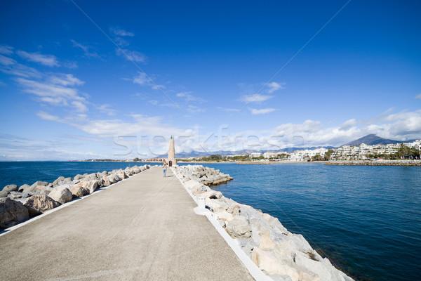 桟橋 スペイン 長い 地中海 海 アンダルシア ストックフォト © rognar