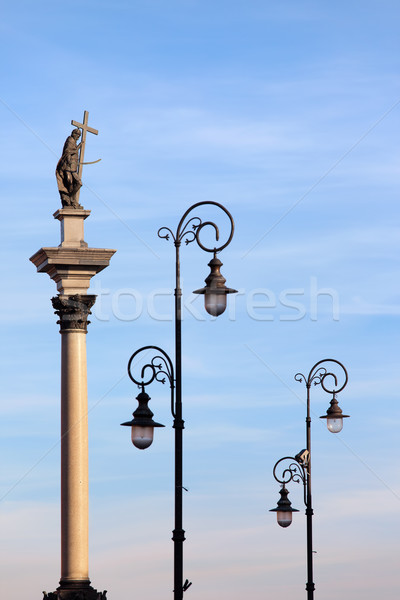 Sigismund's Column in Warsaw Stock photo © rognar