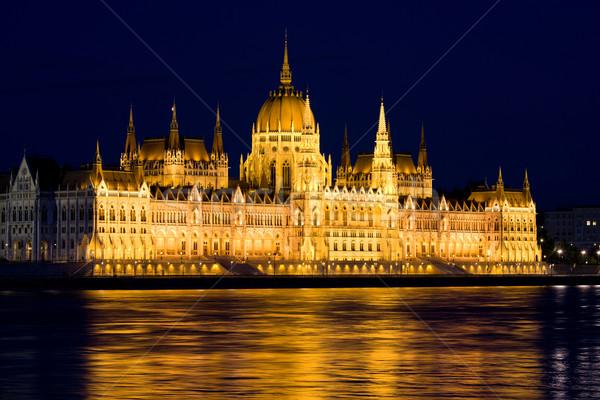 Budapest Parliament at Night Stock photo © rognar