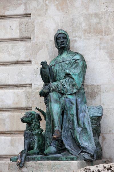 Galeotto Marzio Statue in Budapest Stock photo © rognar