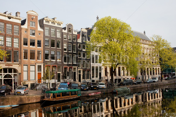 Amsterdam Houses along the Singel Canal Stock photo © rognar