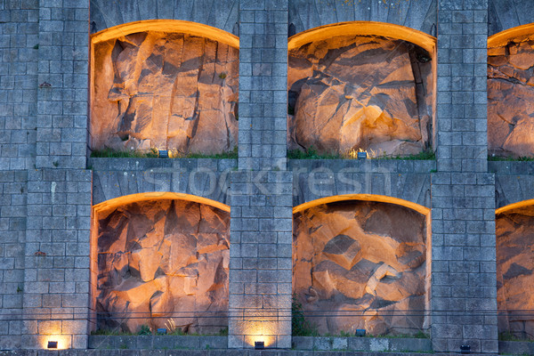 Omhoog klooster Portugal stad architectuur Europa Stockfoto © rognar