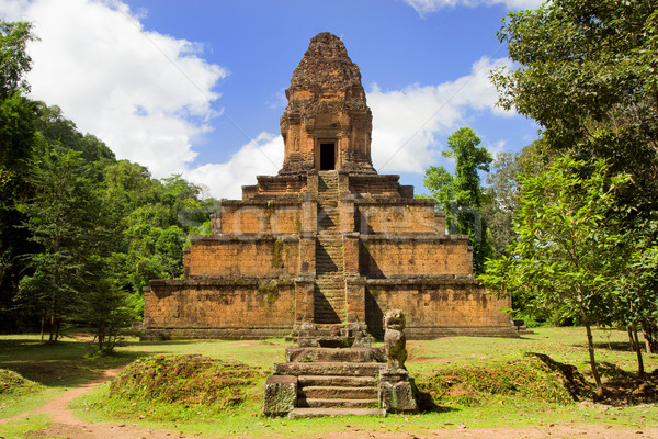 Pyramid Temple in Cambodia Stock photo © rognar