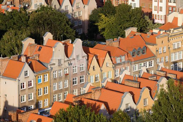 Città vecchia danzica appartamento edifici architettura storica Polonia Foto d'archivio © rognar
