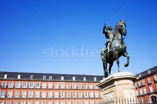 Plaza Mayor in Madrid Stock photo © rognar