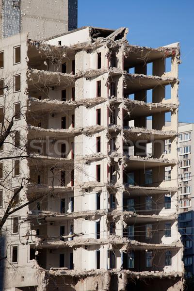 Edificio demolición acabado edad Varsovia Foto stock © rognar