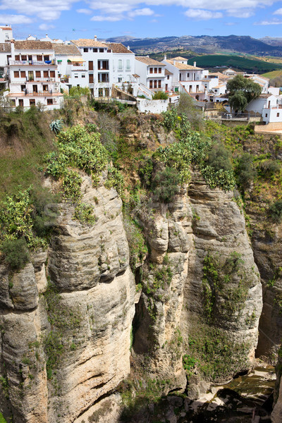 Houses on a Cliff in Ronda Stock photo © rognar