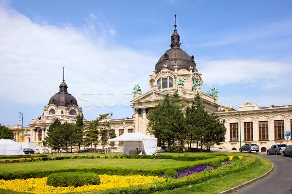 Stok fotoğraf: Budapeşte · spa · mimari · Macaristan · Bina