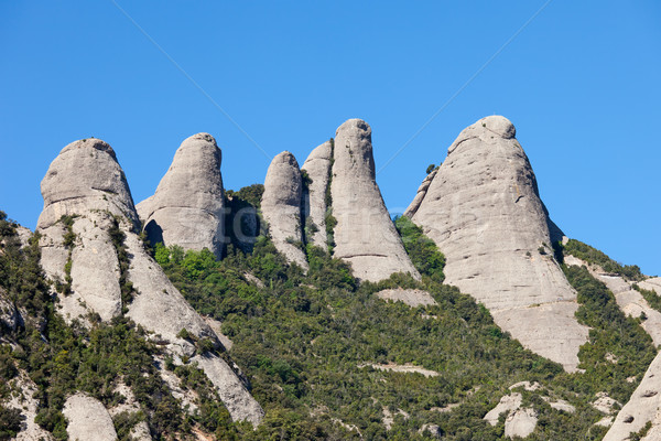 Peaks of the Montserrat Mountains Stock photo © rognar