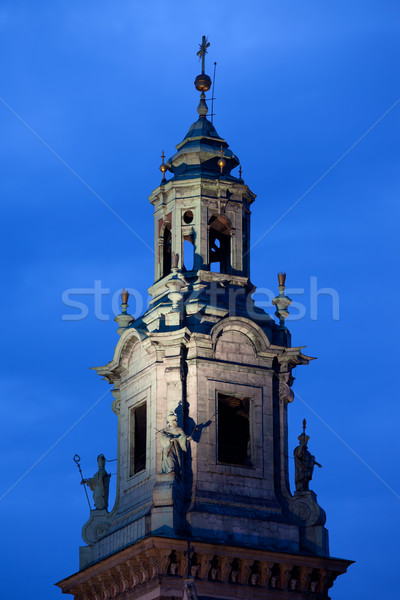 Clock Tower of the Wawel Cathedral in Krakow Stock photo © rognar