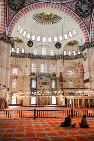 Suleymaniye Mosque Interior Stock photo © rognar