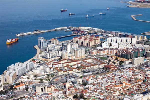 Gibraltar powyżej miejskich dekoracje południowy domu Zdjęcia stock © rognar