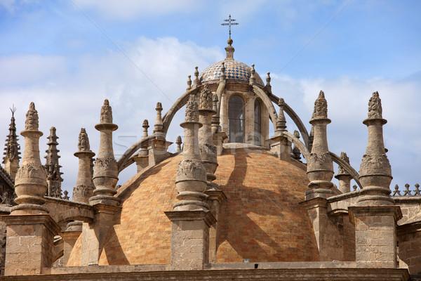 Katedrális kupola Spanyolország épület templom gótikus Stock fotó © rognar
