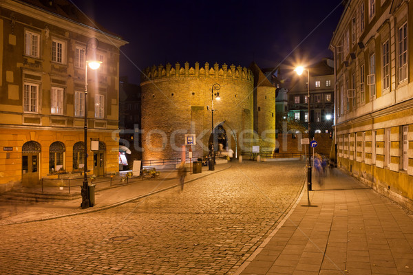 Old Warsaw at Night in Poland Stock photo © rognar