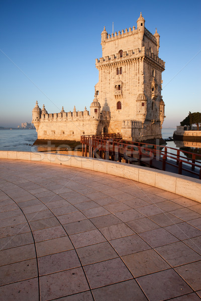 Belem Tower on the Tagus river in Lisbon Stock photo © rognar